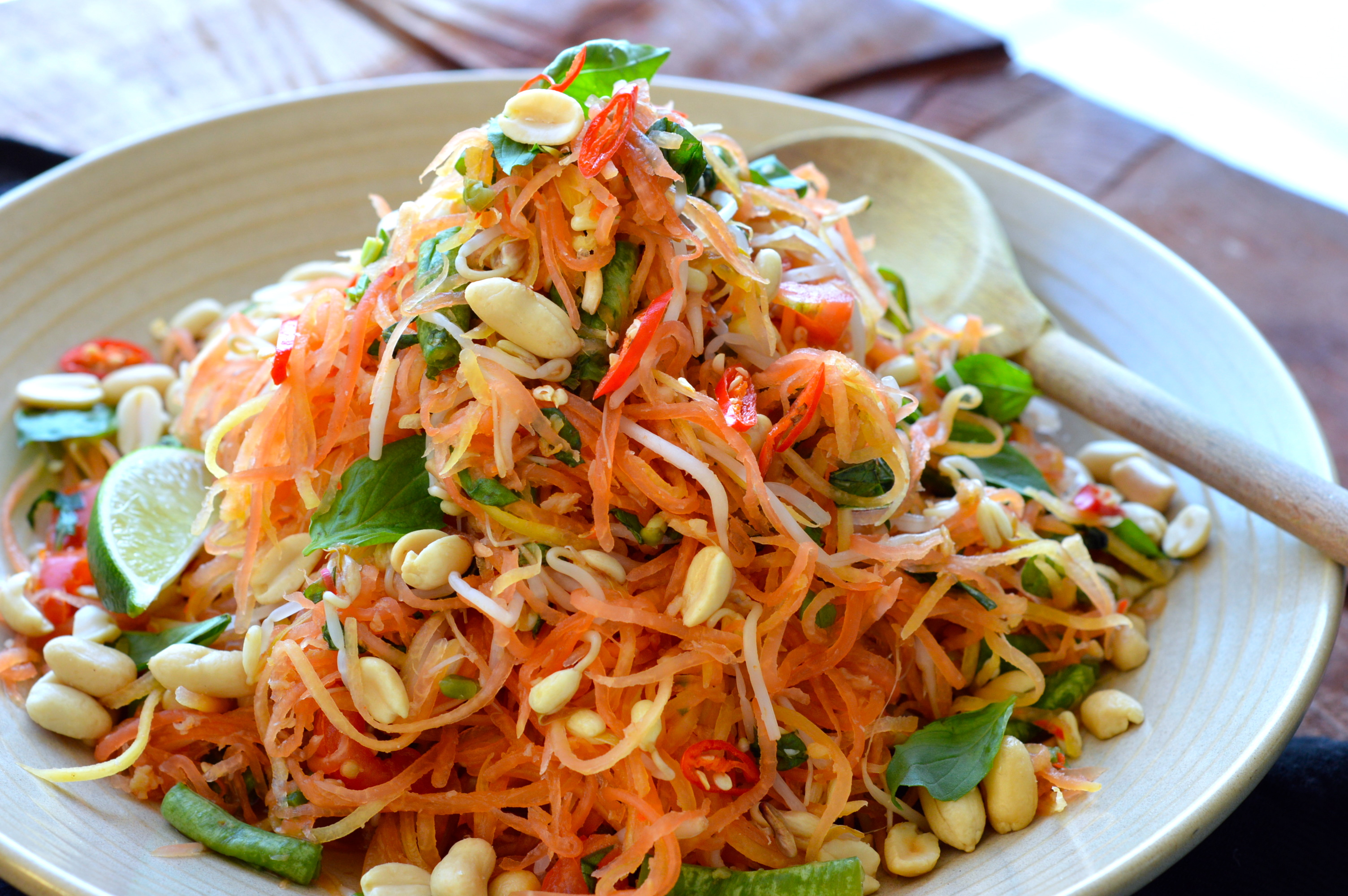 Green Papaya Salad For My Senses