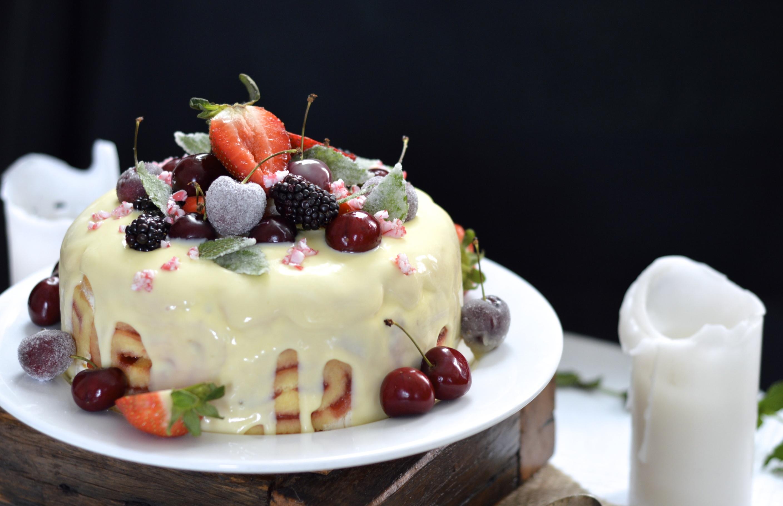 Boozy White Chocolate And Cherry Ice Cream Cake For My